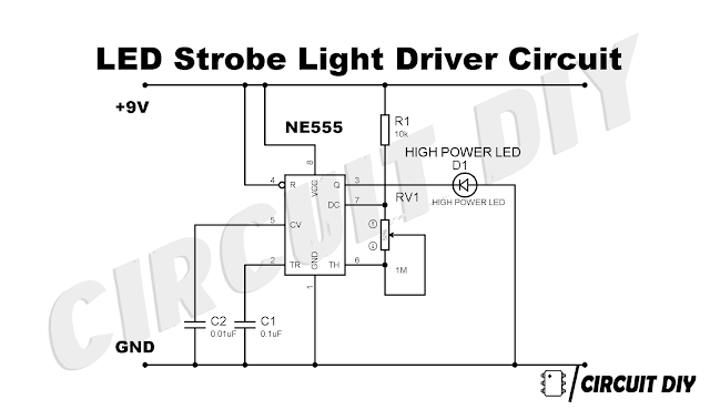 How To Drive Led Strobe Lights Using 555 Timer Ic