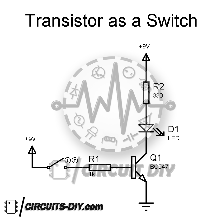 how to use a transistor bc547 as a switch