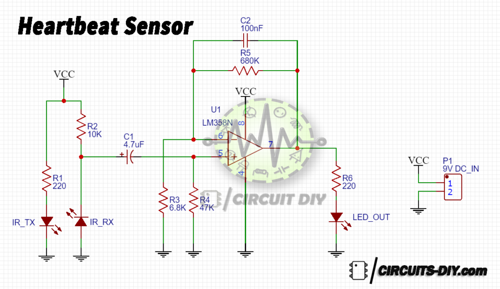 How To Make A Simple Heartbeat Sensor Circuit