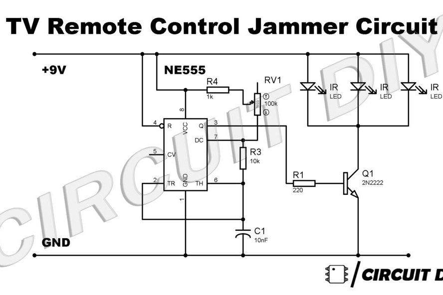 simple tv remote jammer circuit using 555 timer  u2014 circuits diy