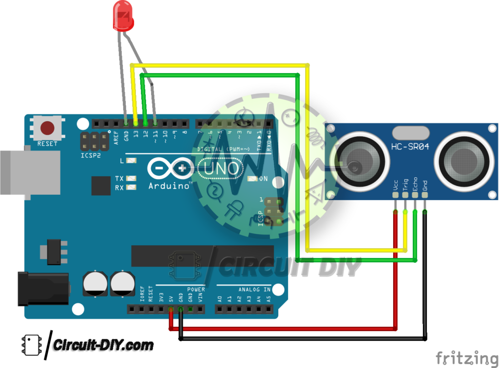 How to Interface Ultrasonic Sensor HC-SR04 with Arduino — Circuits DIY