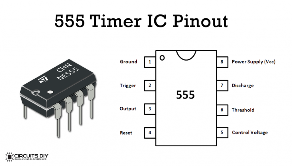 simple time delay circuit using 555 timer