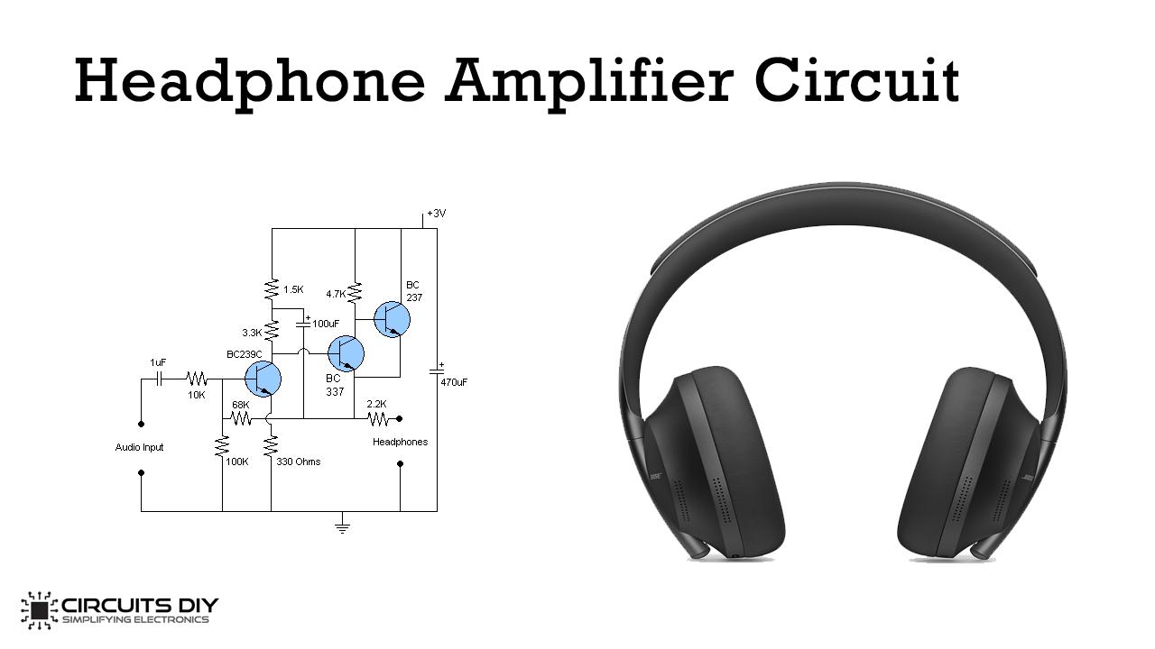 Headphone Amplifier Circuit Using 3