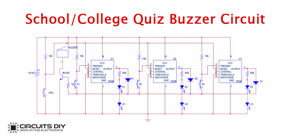 -College-Quiz-buzzer-Circuit-1024x488 Quiz Buzzer Circuit Diagram on diagram myrio, for classroom electric, set up for arduino, what is, typical fire alarm, 555 timer passive,