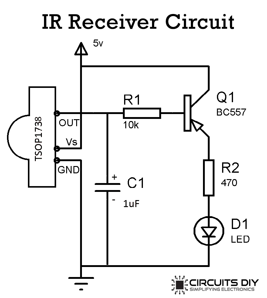 infrared ir transmitter and receiver circuit