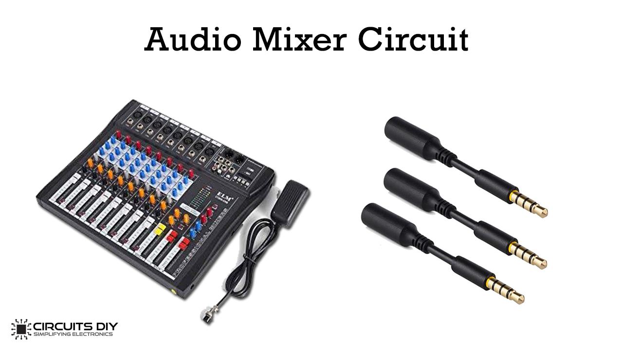 single transistor audio mixer circuit
