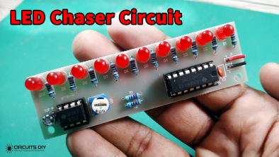 LED Chaser Circuit using 555 & CD4017 - Electronics Projects