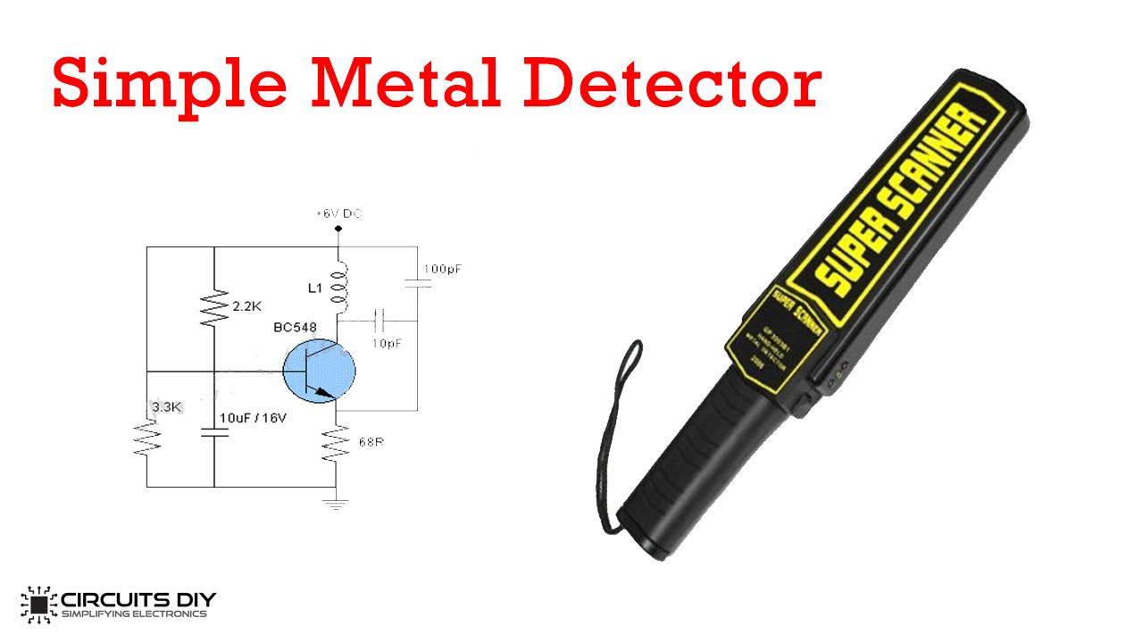 Simple Metal Detector Circuit Using BC548 TransistorCircuits DIY