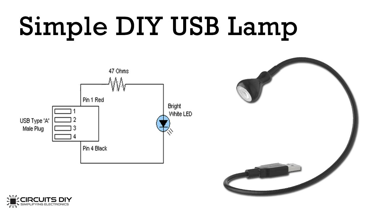 simple usb lamp circuit