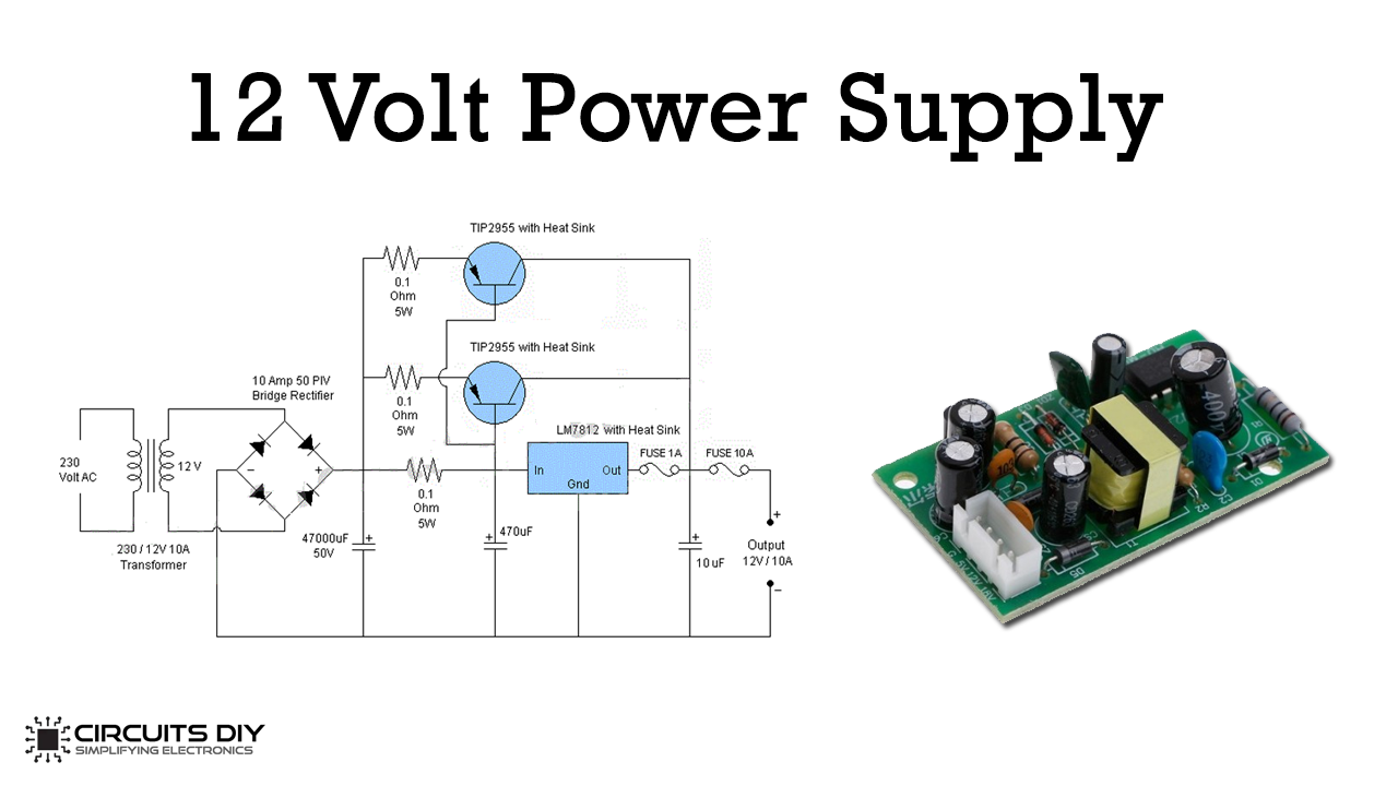 40 Volt 40 Ampere DC Power Supply Circuit