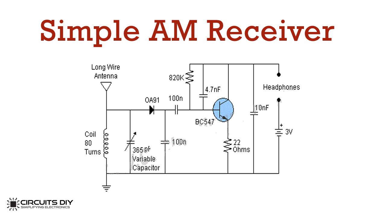 Simple AM Receiver Using BC547 Transistor