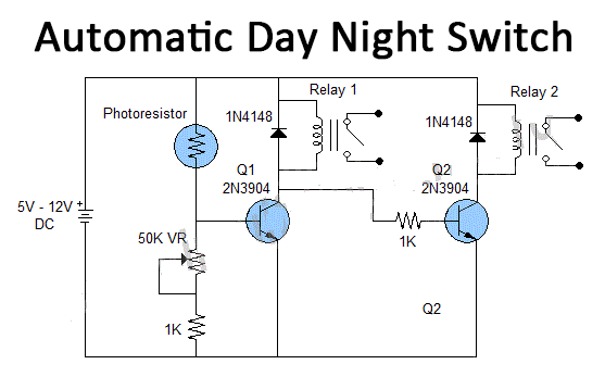 simple automatic day night switch using ldr