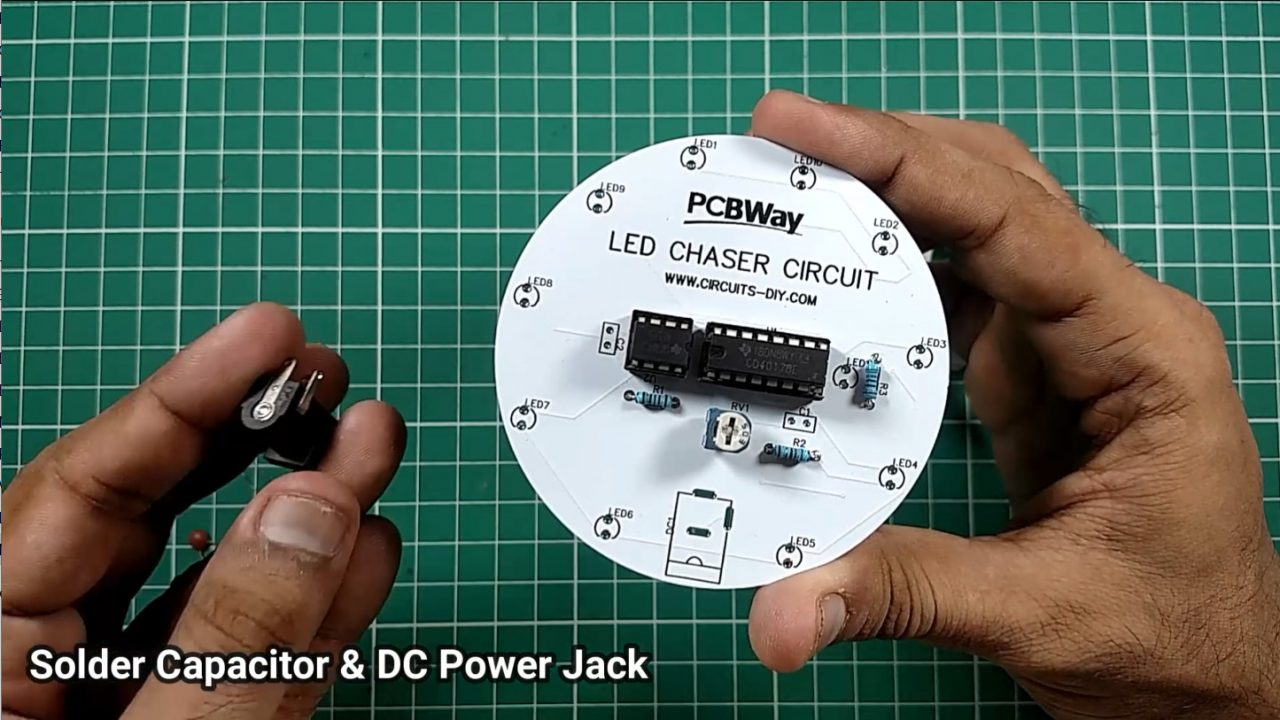 Circular LED Chaser using 555 timer & CD4017 - Electronics ...