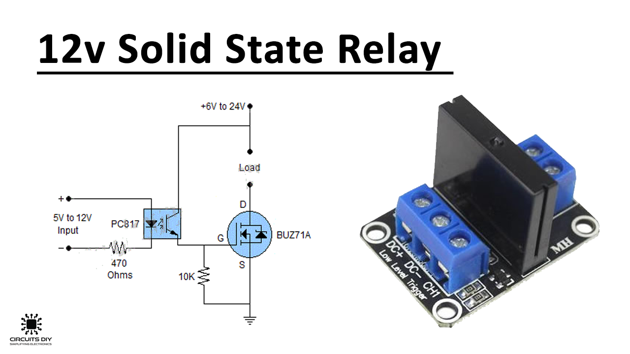 12 Volt Dc Solid State Relay Using Buz71a