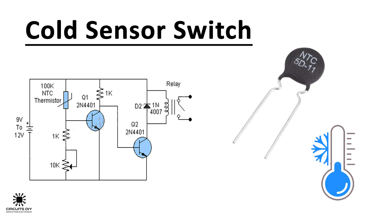 Cold Sensor Switch using NTC ThermistorCircuits DIY