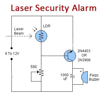 Simple Laser Security Alarm Using Ldr