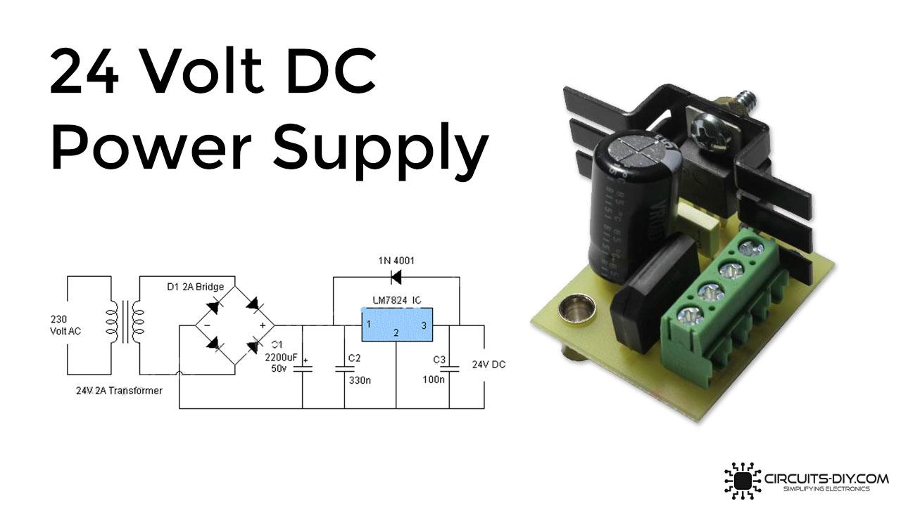 40V DC Power Supply Using LM7840 IC